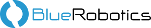 BlueRobotics Logo Blue Black 300x57